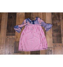 Pink Vanilla Mauve Multimedia Printed Dress