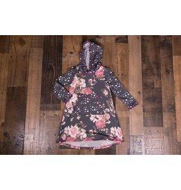 Pink Vanilla Floral Stars Hooded Dress