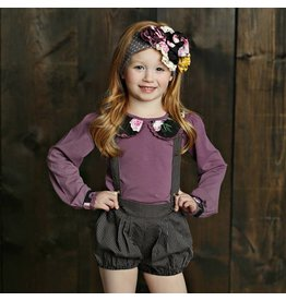 Mustard Pie Floral and Violet Top