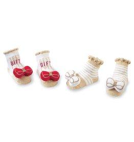 Mud Pie Christmas Rattle Bow Sock
