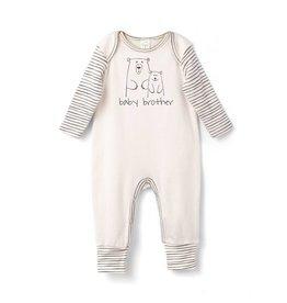 Tesa Babe Ivory and Stripes Baby Bear Romper