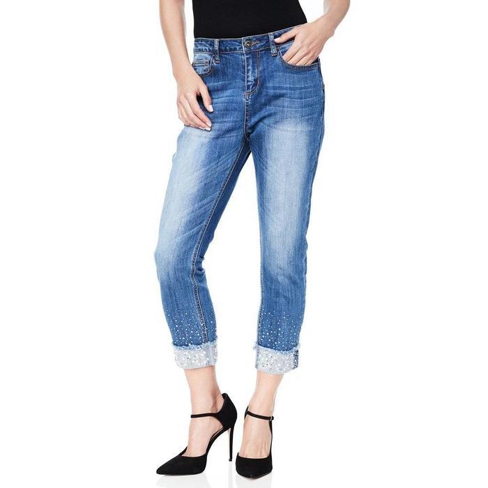 Studded Bottom Cuffed Jean