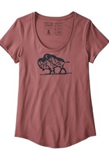 Patagonia Women's Nordic Bison Organic Cotton Scoop T-Shirt