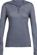 Icebreaker Women's Cool-Lite Sphere Long Sleeve Hood