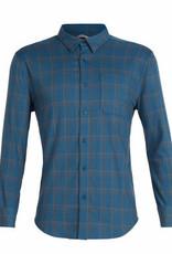 Icebreaker Men's Cool-Lite Compass Long Sleeve Flannel