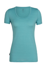 Icebreaker Women's Tech Lite Short Sleeve Scoop Single Line Camp