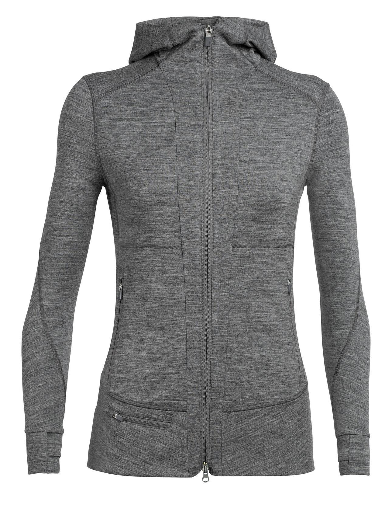 Icebreaker Women's Quantum Long Sleeve Zip Hood