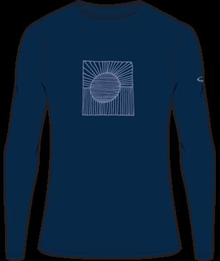 Icebreaker Men's 200 Oasis Long Sleeve Crew Solar Design