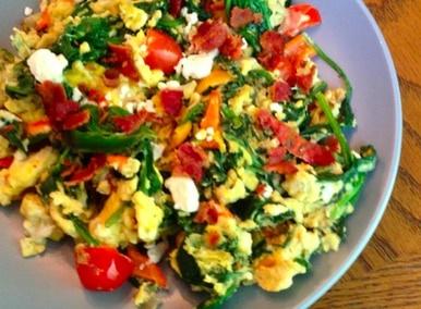 Peak Eats PeakEats Vegetable Scramble with Hash Browns