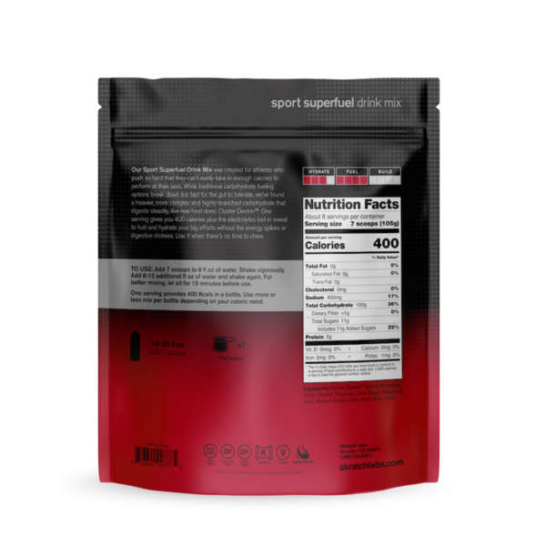 Skratch Labs Superfuel Raspberry 840gm