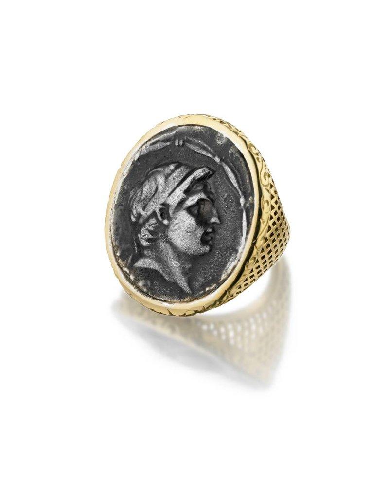 Vintage Greek Coin Ring