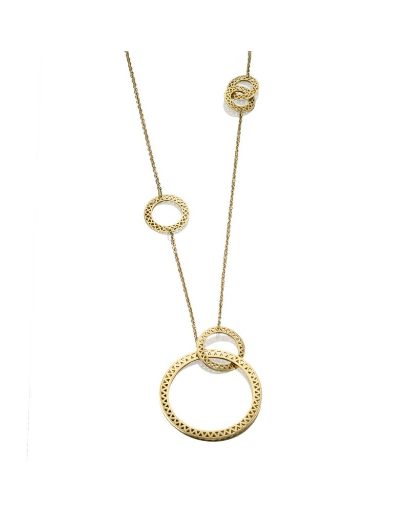 Asymmertic Large Disc Necklace