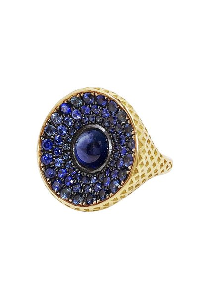 Cabochon Sapphire Cocktail Ring