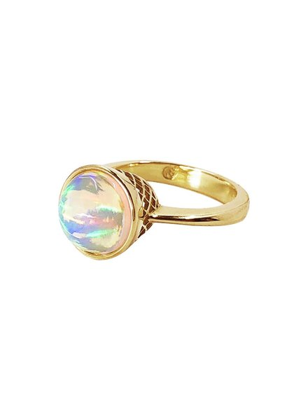 Moonstone & Diamond Cocktail Ring
