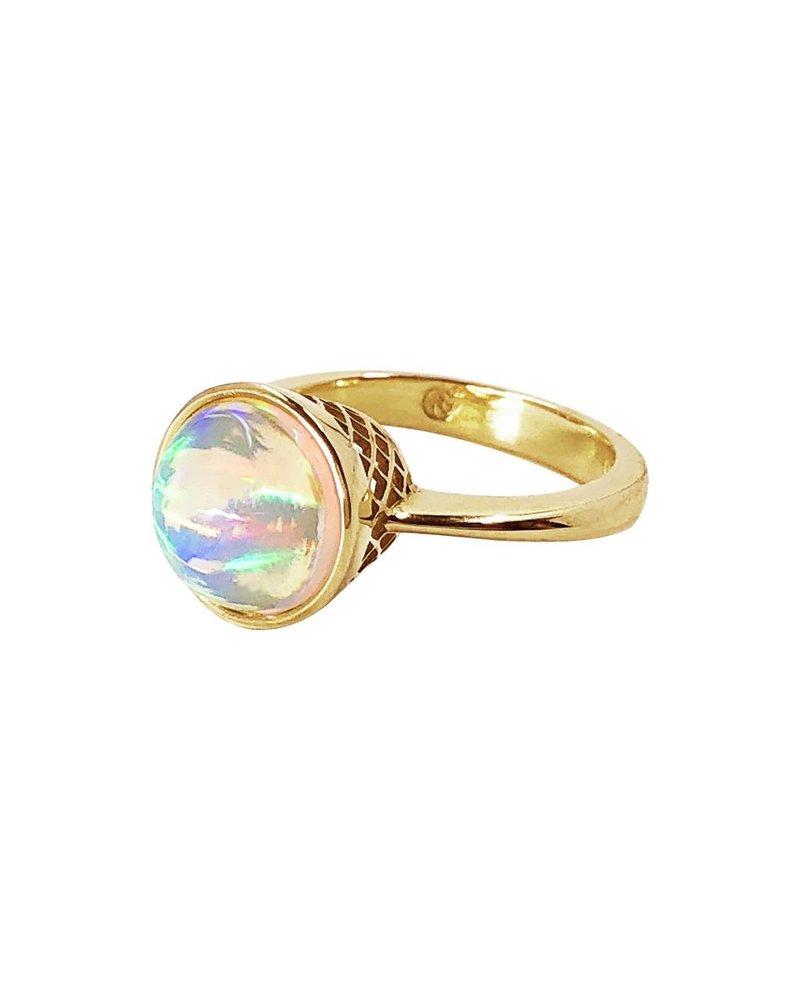 Moonstone & Diamond Cocktail Ring