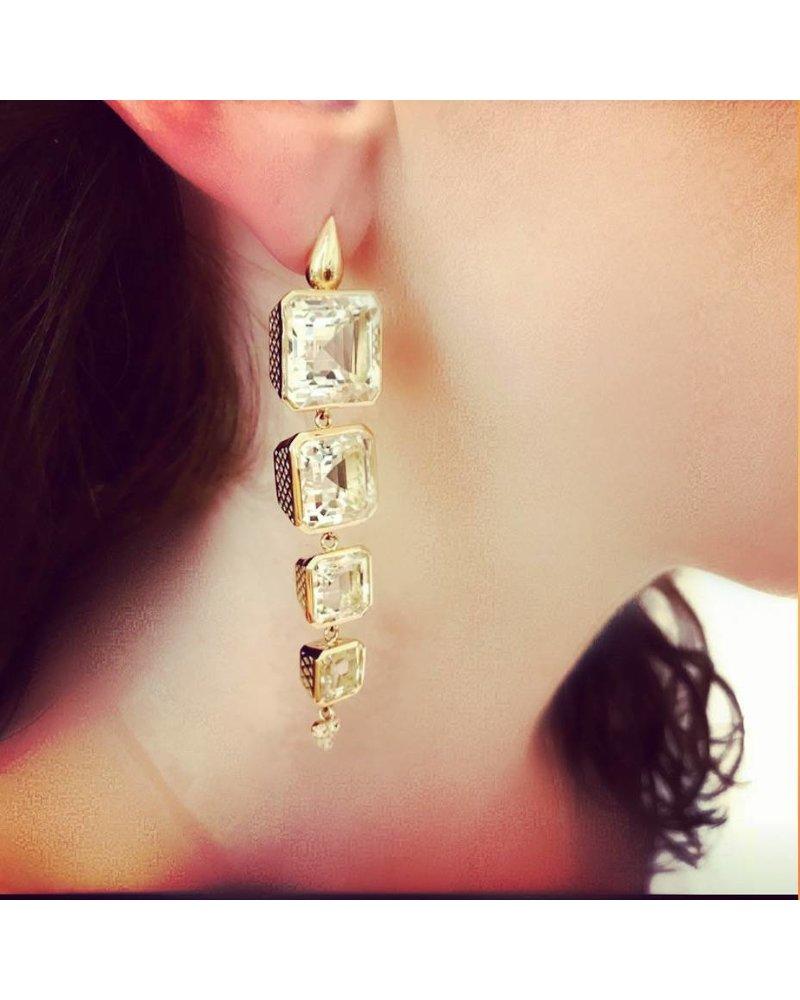 Triple Drop Crownwork Earrings