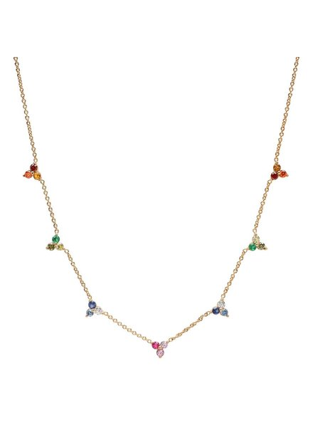 Tai Mini cluster ombre necklace