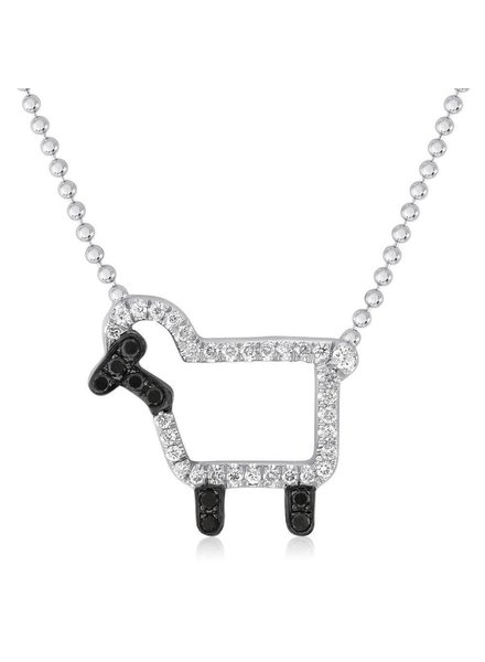 Julie Lamb 'Susie' Necklace In White Diamonds