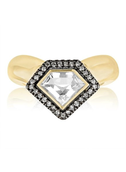 Julie Lamb Diamond Power Chevron Ring