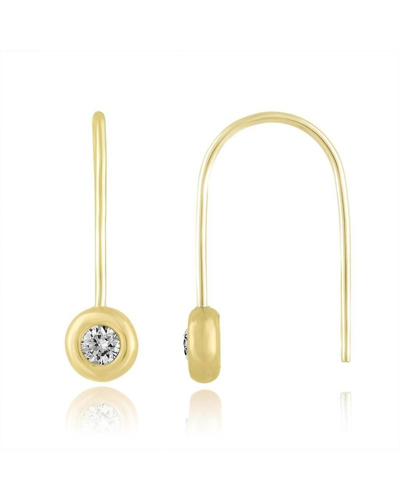 Julie Lamb Signature Bezel Ear Wire