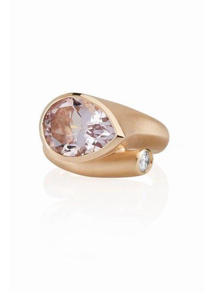 Carelle Large Whirl Rose De France Diamond Ring