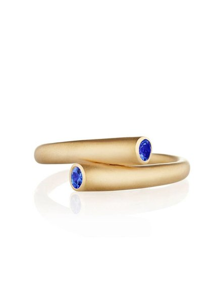 Carelle Whirl Single Blue Sapphire Ring