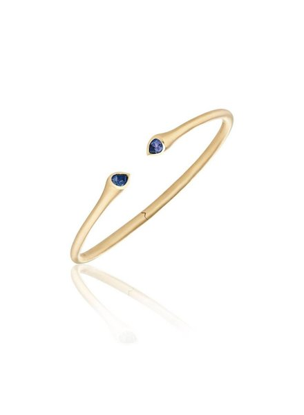 Carelle Whirl Sapphire Bangle