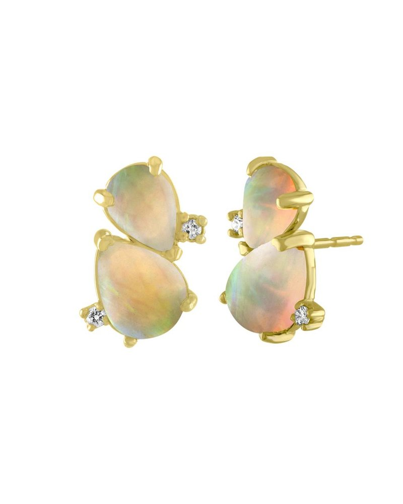 Amy Glaswand Pear Shaped Opal Studs