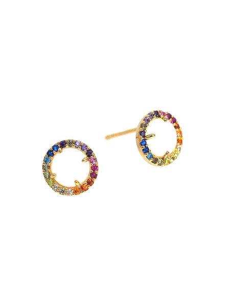 Tai Rainbow Opal Stud