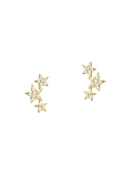Tai Triple Star Earrings