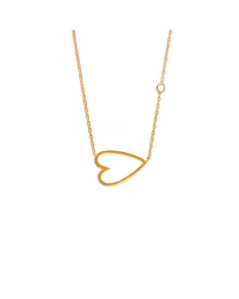 Tai Sideways Heart Necklace