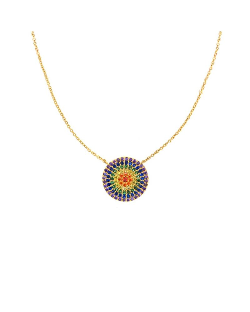 Tai Rainbow Disc Necklace