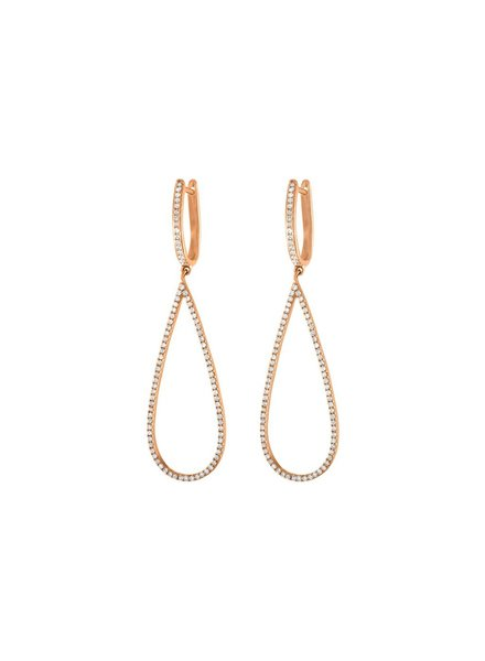 Jane Kaye Small Open Pear Earrings