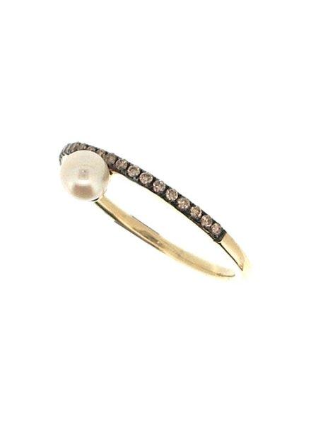 Jane Kaye Single Pearl Band Ring