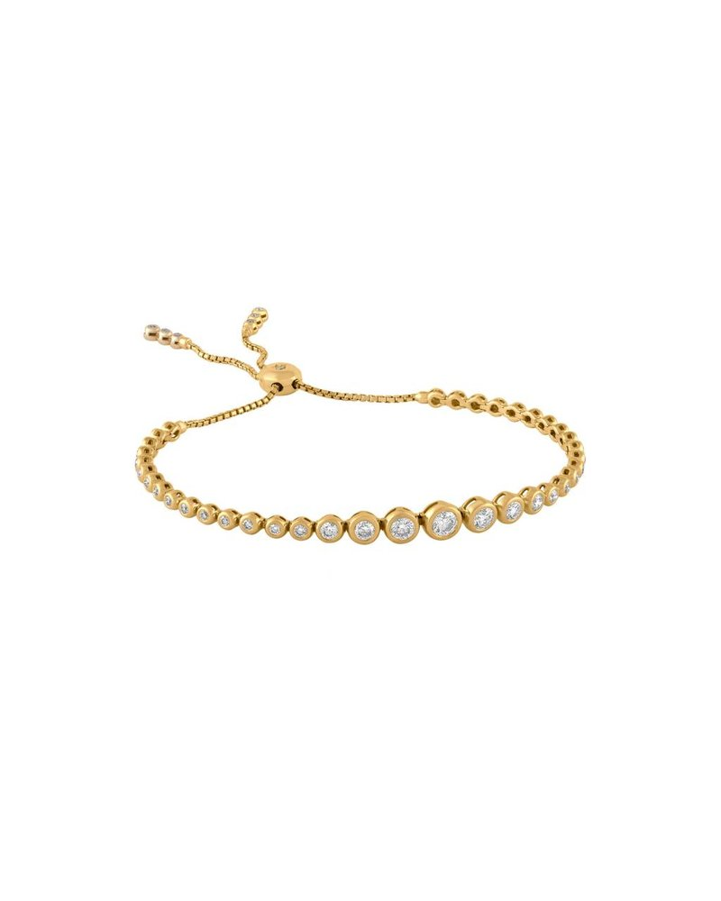 Jane Kaye Adjustable Tassel Tennis Bracelet YG