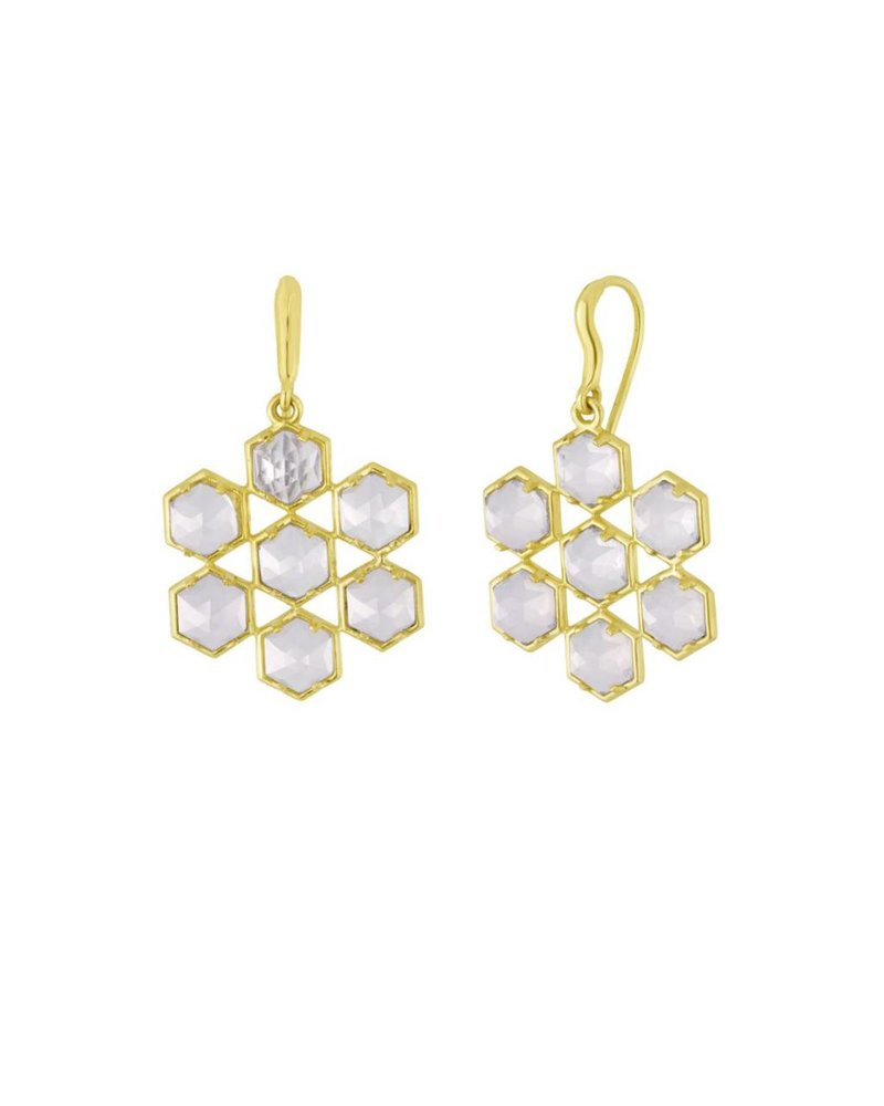 Amy Glaswand Grid Earring