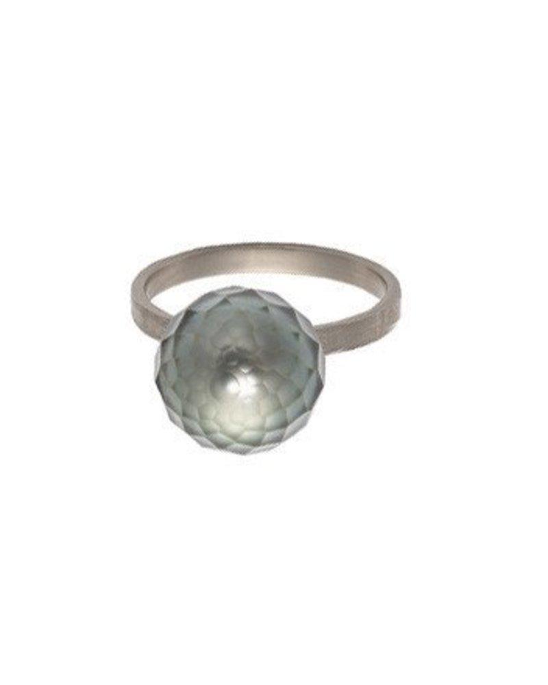 Sweet Pea Tahitian Faceted Pearl Ring