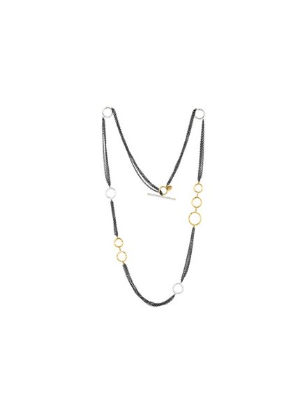 Lika Behar Bubbles Multi Chain Necklace