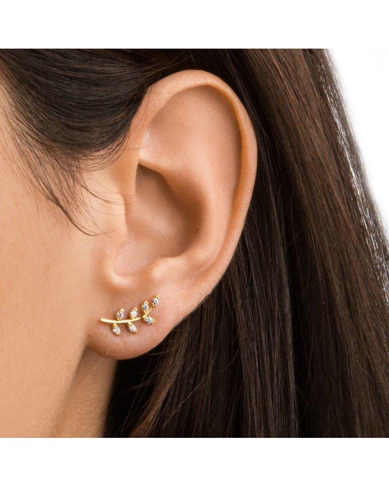 Tai Silver Leaf Earrings
