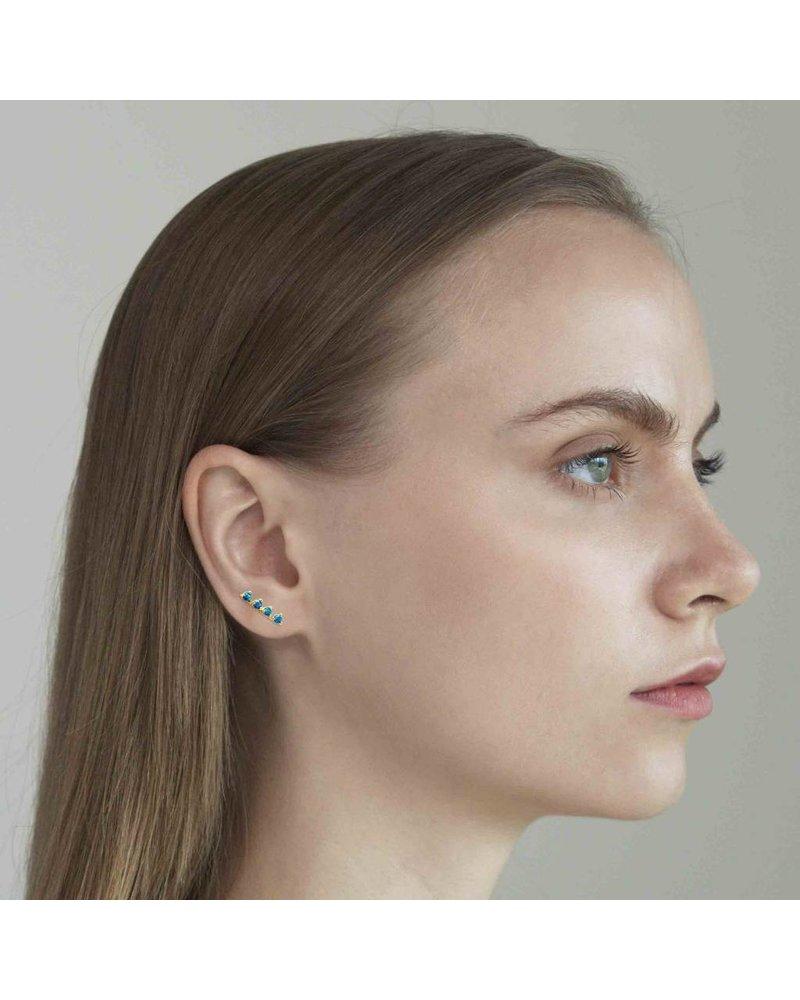 Tai Gold Stick Earrings Featuring Lapiz