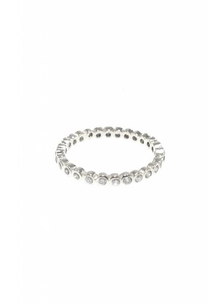Tai Clear CZ Stack Ring