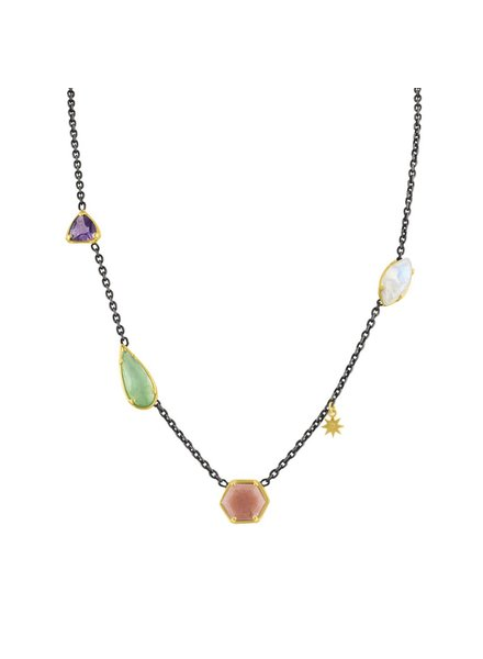 Amy Glaswand Mixed Stone Necklace