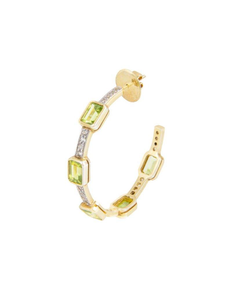 M. Spalten Jewelry Classic Gemstone Hoop