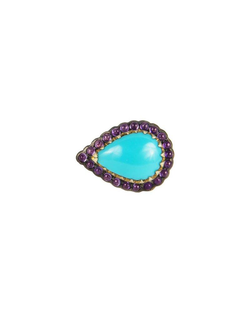 M. Spalten Jewelry Scalloped Resting Teardrop Ring