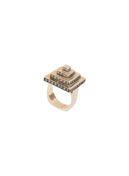 M. Spalten Jewelry Square Pyramid Ring