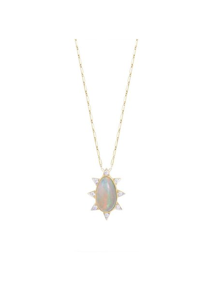 M. Spalten Jewelry Oval Burst Necklace