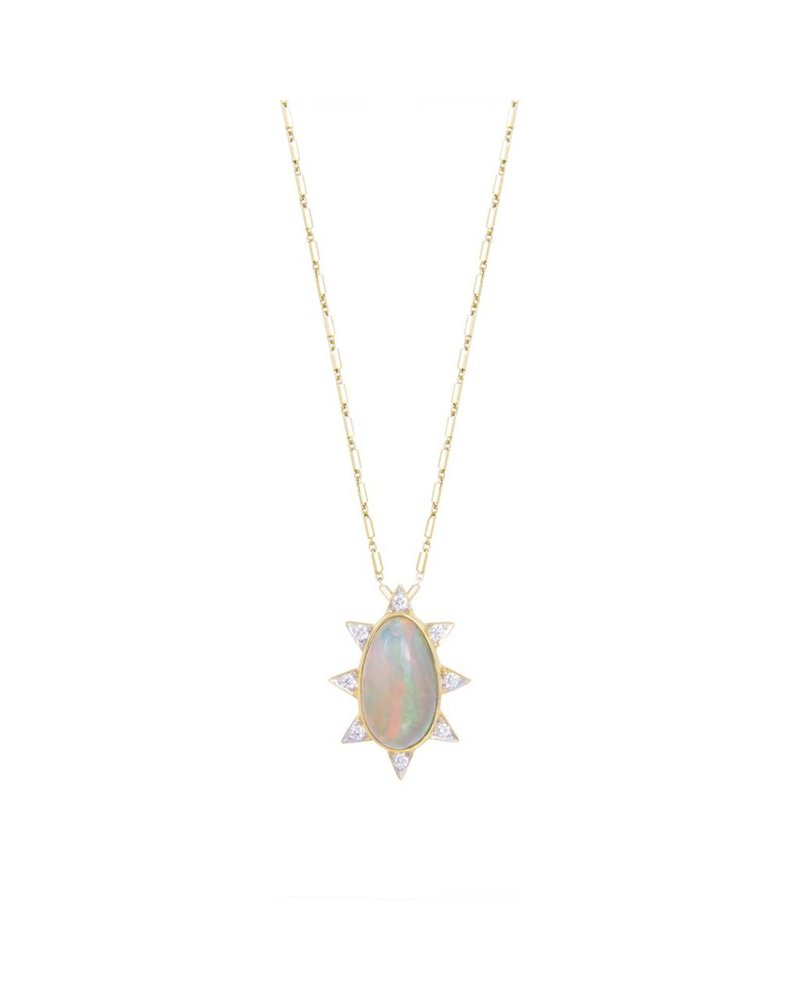 M. Spalten Jewelry Oval Burst Necklace