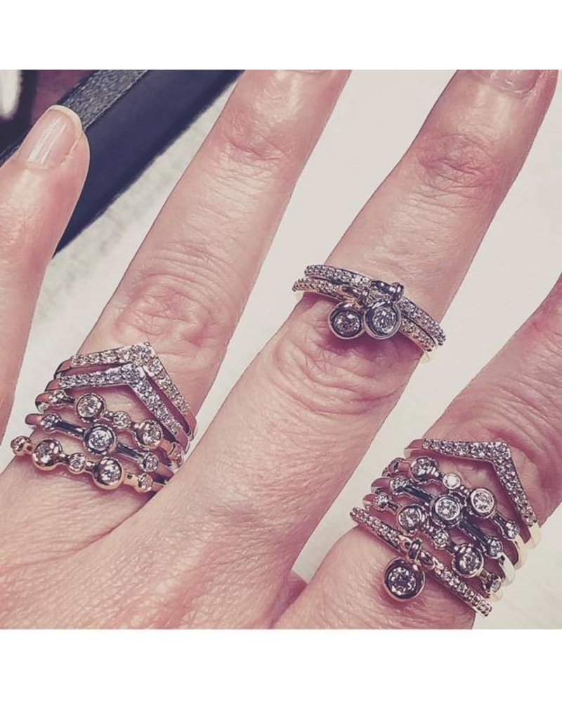 Julie Lamb Bouncing Bezel Diamond Charm Ring