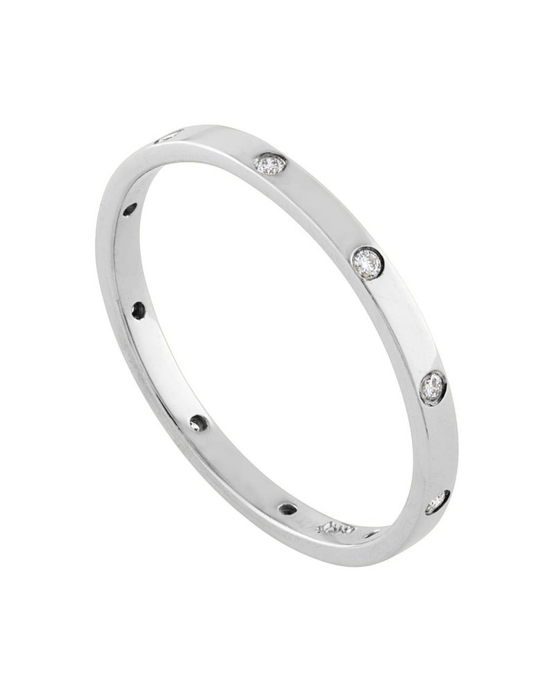 Diamond Set Bezel Stack Band