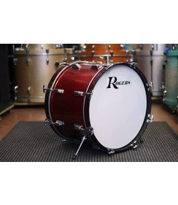 ROGERS Vintage Rogers 14 x 20 in Holiday Bass Drum in red sparkle